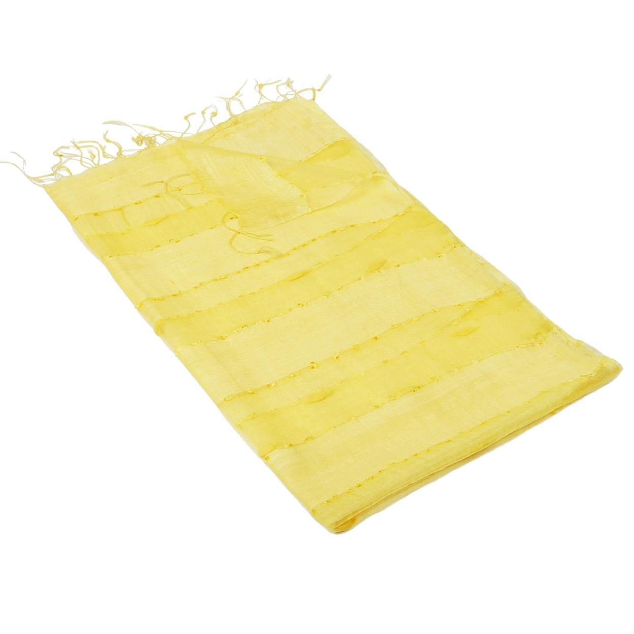 Šála Organza pruhovaná žlutá